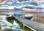 picture of pier a lake  - the old lake pier - JPG