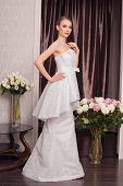 image of beauty salon interior  - Beautiful and fashion bride in luxury interior  - JPG
