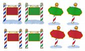 stock photo of north-pole  - A set of 3D Signs good for north pole - JPG