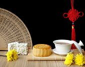 image of mid autumn  - Mooncake and teaChinese mid autumn festival food - JPG