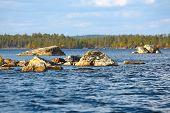 image of inari  - Sunny day on Lake Inari in early autumn  - JPG