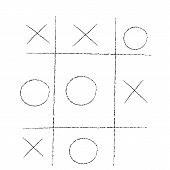 picture of tic-tac-toe  - doodle tic tac toe XO game - JPG