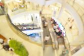 stock photo of department store  - Blur or Defocus image of People Shopping in Department Store or shop Plaza - JPG