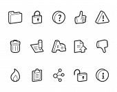 stock photo of outline  - Outlined internet vector icons - JPG