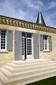 stock photo of bordeaux  - Facade of a French winery near Bordeaux France - JPG