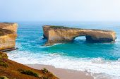 pic of 12 apostles  - London Bridge at The Twelve Apostles a famous collection of limestone stacks off the shore of the Port Campbell National Park by the Great Ocean Road in Victoria Australia