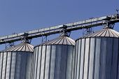 pic of silo  - silos for agricultural goods in a warehouse - JPG
