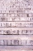 stock photo of staircases  - Full frame take of an old stone staircase - JPG