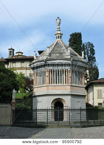 The baptistery of Bergamo in Italy