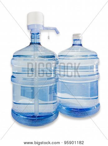 Two Carboys With Drinking Water And Hand Pump