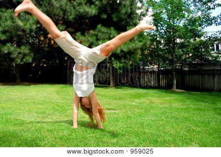 Girl Cartwheel