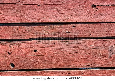 Old Painted Wood Plank With Texture