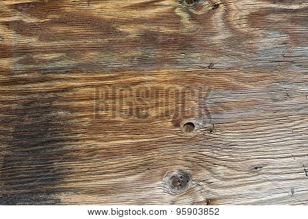 Old Gray-brown Wood Plank With Texture