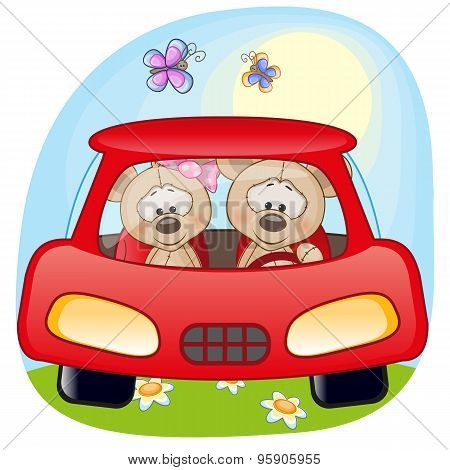 Two Mouses In A Car
