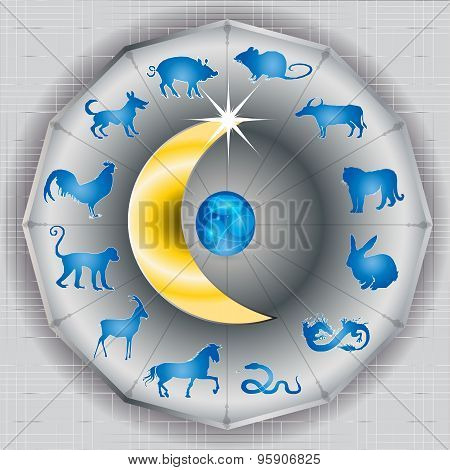Chinese Zodiac sign on the Moon