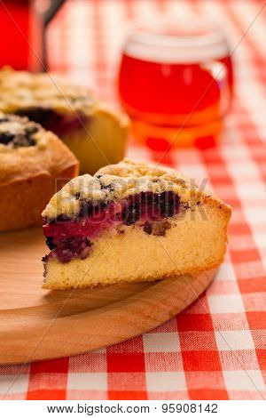 Piece Of The Pie With Berries.