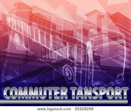 Abstract background digital collage concept illustration commuter transport public bus