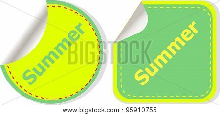 Summer Icon. Internet Button Isolated On White Background