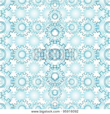 Seamless Mechanics Blue Background