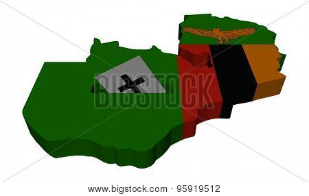 Zambia election map with ballot paper illustration
