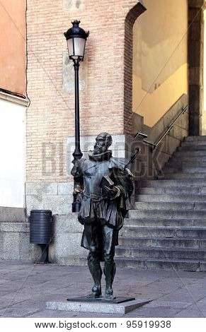 Monument To Miguel De Cervantes In Toledo