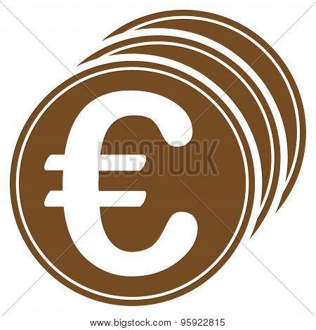 Euro coins icon from BiColor Euro Banking Set
