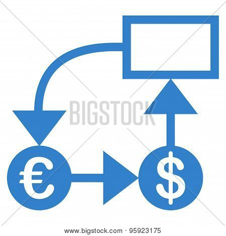 Flow chart icon from BiColor Euro Banking Set