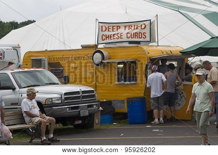 View Of Deep Fried Cheese Curd Stand At Iola