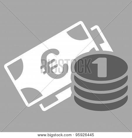 Euro money icon from BiColor Euro Banking Set