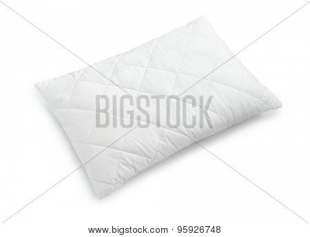 White cotton pillow isolated on white