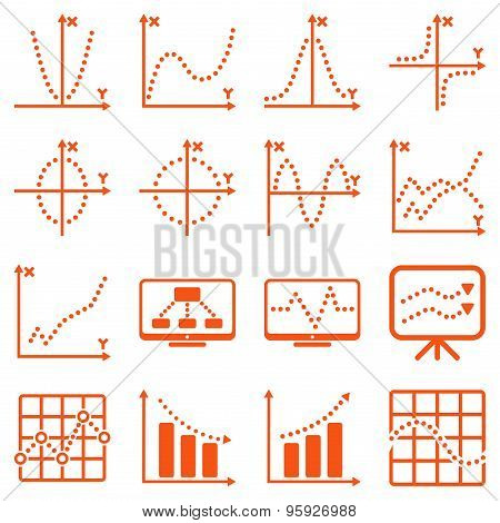 Dotted raster infographic business icons
