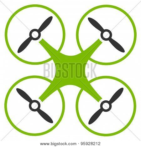 Copter icon from Business Bicolor Set