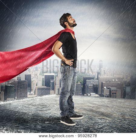 Hero confident boy