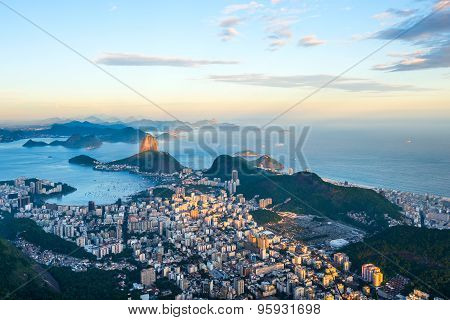 View From Corcovado To Sugarloaf