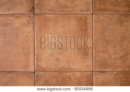 Ocher Stone Tile Wall