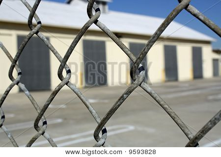 Warehouse Behind Fence