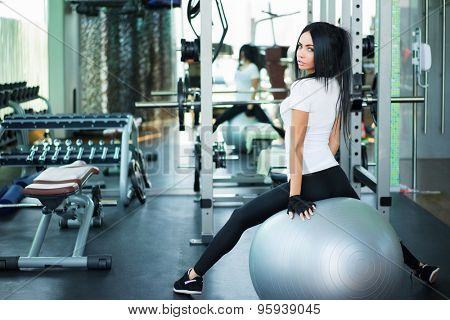 Young girl in fitness club