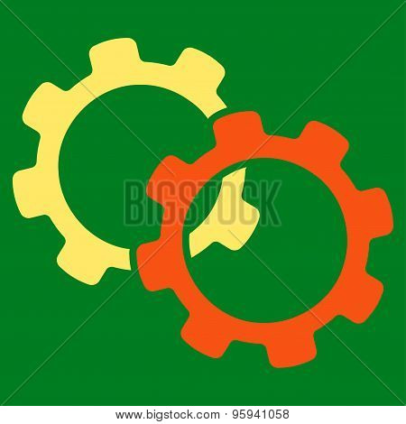 Gears icon from Business Bicolor Set