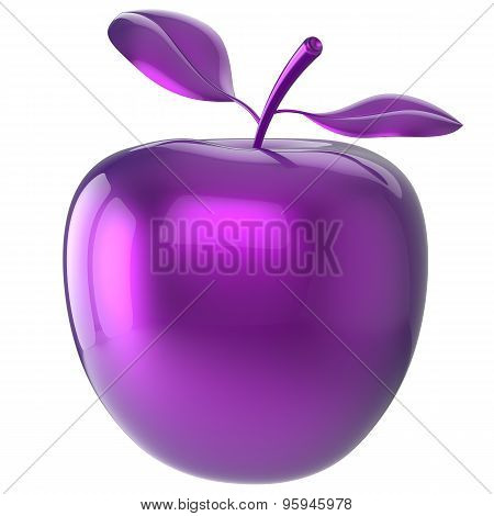 Purple Apple Blue Research Experiment Food Nutrition Fruit Icon