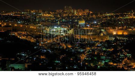 Panorama Of Jerusalem At Night
