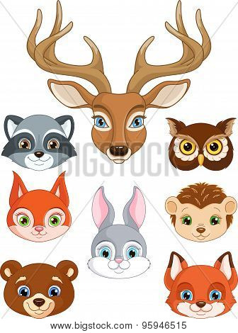 Set Forest Animals