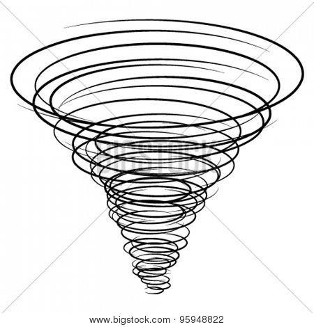 vector black tornado symbol