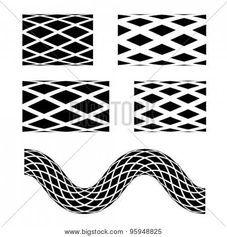 vector black seamless garden hose symbols