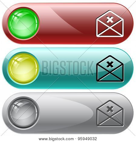 mail cancel. Vector internet buttons.