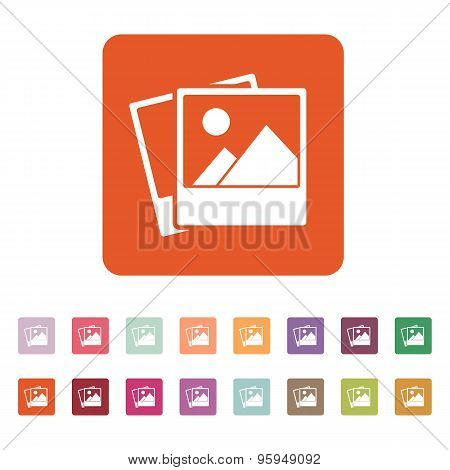 The Photo Icon. Photograph And Image, Snapshot Symbol. Flat