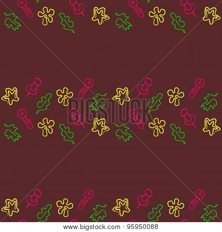 Doodle seamless pattern Back to school