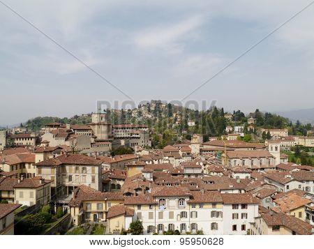 An overlook of Bergamo in Italy