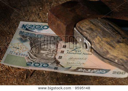 Naira Bills Under Old Axe