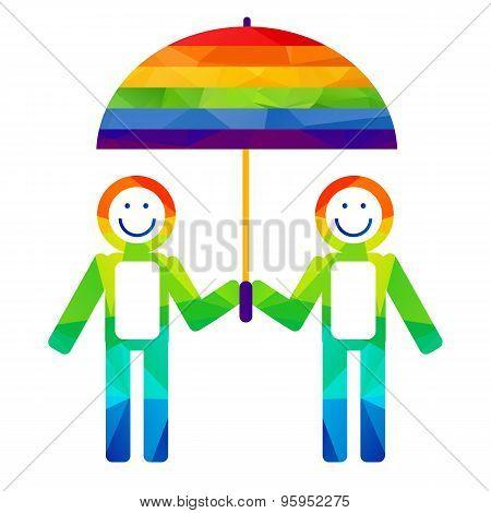 Boys With Umbrella