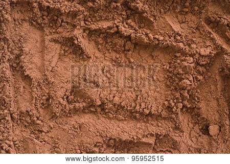 Cocoa Powder From Above - Close Up Of Textured Background